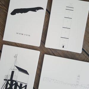 Set kaarten: thema 'Terschelling'