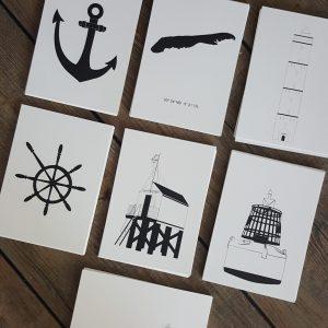 Set kaarten: thema 'Terschelling & nautisch'