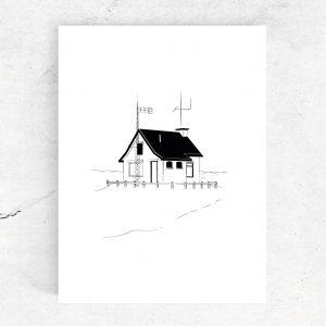 Ansichtkaart Seinpaalduinhuisje