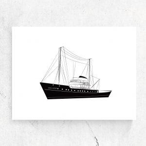 Ansichtkaart Zeesleepboot Holland