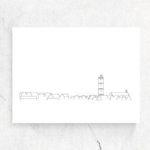 Ansichtkaart Skyline Terschelling