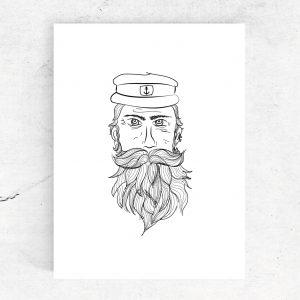 Ansichtkaart Kapitein