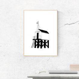 Poster Drenkelingenhuisje Terschelling