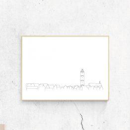 Poster Terschelling skyline