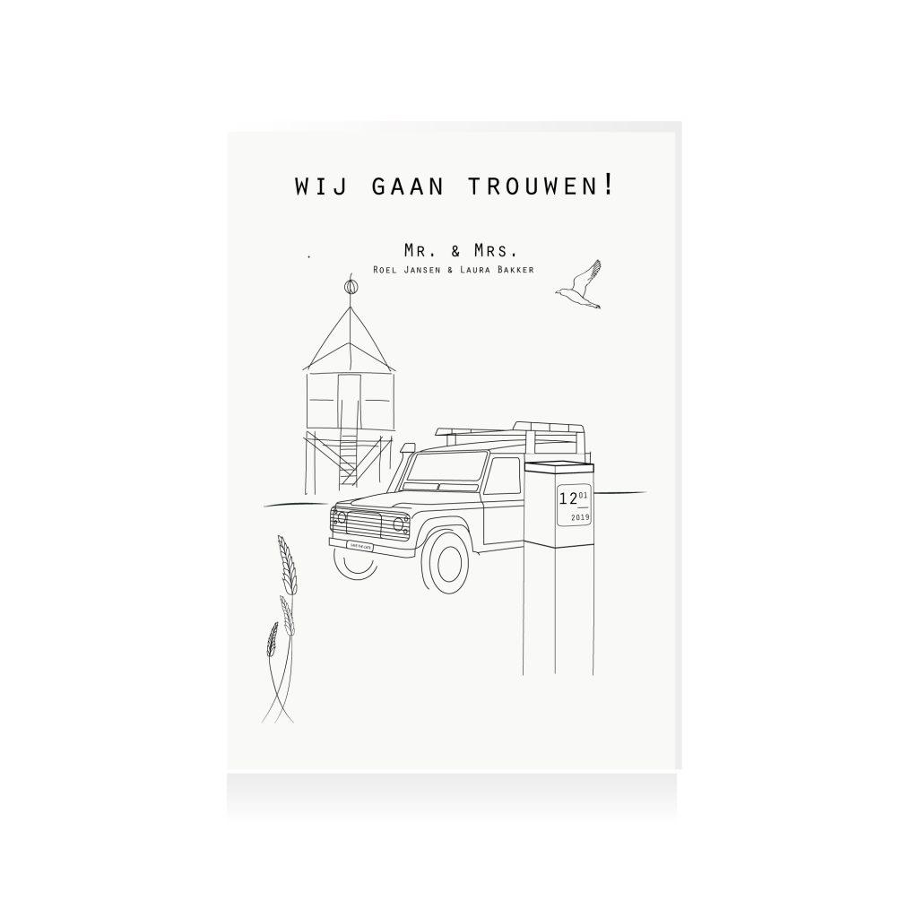 Terschelling-trouwkaart-eiland-Nederland-texel-Studio-Tosca