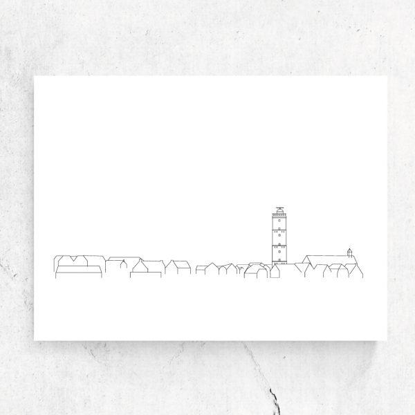 Studio-Tosca-ansichtkaart-skyline-Terschelling-eiland