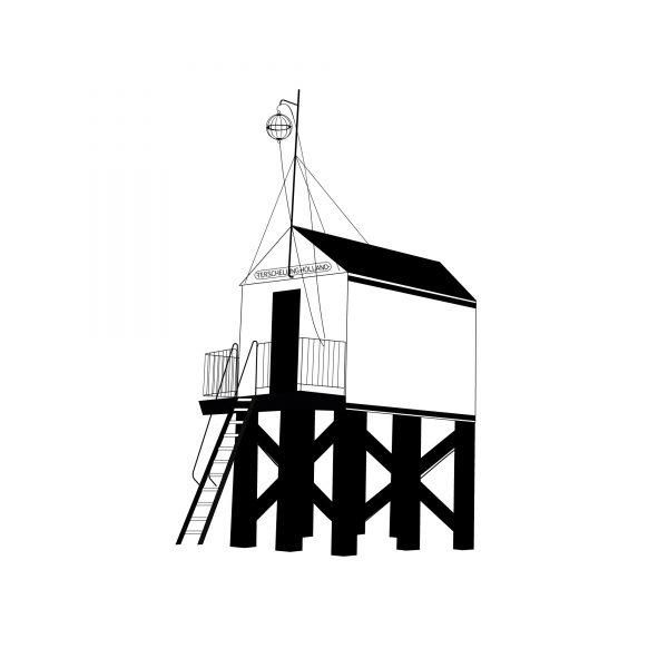 Studio-Tosca-illustratie-Terschelling-drenkelingenhuisje