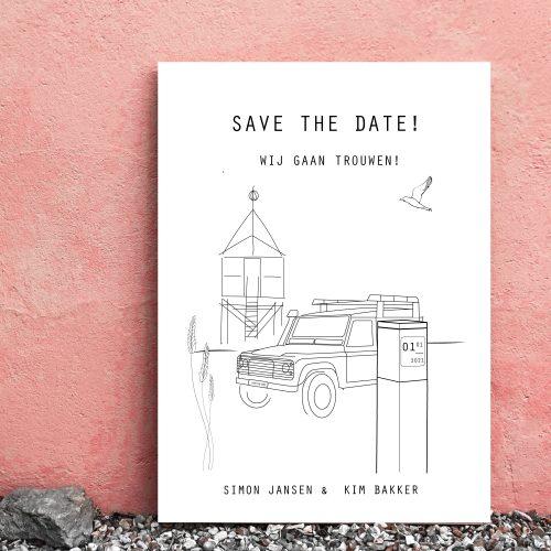 Verhuiskaart-ansichtkaart-op-maat-illustratie-nieuw-huis-woning-Studio-Tosca-Terschelling