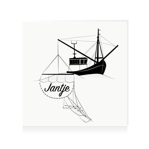 Vissersboot-URK-geboortekaartje-origineel-Studio-Tosca-Terschelling-wadden